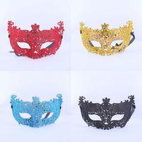 Wholesale Carnival Eye Masks - 30pcs lot Fox Face querade Mask Venetian Masks Halloween Party Bar Club Sexy Carnival Masks Eye Mask Gold Silver Blue Red Black
