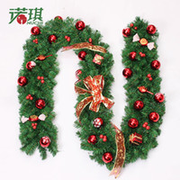 Wholesale Christmas Wreath Supplies - 2016 Christmas home decoration hanging pine branches christmas tree decoration beautiful christmas ornaments festival party supplies