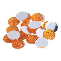 Wholesale Topaz Resin Rhinestone Bead - 8mm-18mm Topaz Color Round Glue On Resin Beads Flatback Scrapbooking Crafts Non Hotfix Rhinestones DIY Bags Shoes Clothes Embellishment