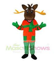 Wholesale Animal Mascot Adult Suit - Jumpsuit Mascot Adult Costume Christmas Deer Reindeer Costume Adult Size Animal Party Fancy Suit