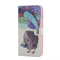 Wholesale Giraffe Butterfly - For Samsung A3 A5 A7 A8 S5 S6 Edge Note 4 5 Diamond Wallet Leather case tpu cover giraffe tower butterfly Flower