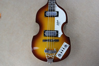 Wholesale Violin Professional - McCartney Hofner H500 1-CT Contemporary Violin Deluxe Bass Vintage Sunburst Electric Guitar Flame Maple Top & Back 2 511B Staple Pickups