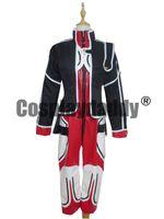 Wholesale custom code geass cosplay online - Code Geass Cosplay Kallen Stadtfeld Red Uniform Costume H008