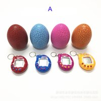 Wholesale Hand Held Toys - Tamagotchi tumbler Toy with a keychain EDC Multi-color Cartoon Surprise Egg Electronic Pet Mini Hand-hold Game Machine Gifts Toy B