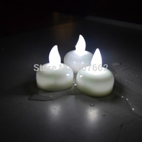 Frete Grátis 480Pcs / Lot Floating Waterproof Led Tea Candle Lights Battery Operated Lamp Wedding Decoration