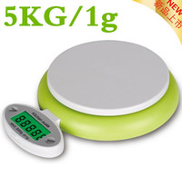Wholesale Electronic Kitchen Postal Scales - New 5kg 5000g 1g Digital Kitchen Food Diet Postal foldable Scale Electronic Scale With g  oz  lb Unit conversion with backlight