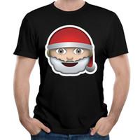Wholesale Teenagers Casual Shirts - Santa Claus Is Coming T-Shirt Man Short Sleeve Crew Neck Tee Adult T-shirts Comfortable Teenager boy Tee Shirt Santa Claus