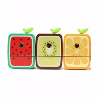 Wholesale hot new office supplies for sale - Group buy Hot Popular Cute Rotary Pencil Sharpener Hand Crank Manual School Stationery Desktop Watermelon for Office School Kids Supplies