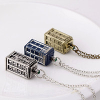 Wholesale Dr House - 2016 Fashion Movie Jewelry A limited Edition Dr Mysterious New Doctor Who House Hollow Out Drip Classic Box Necklaces