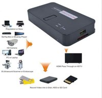Wholesale H 264 Capture Card - 1080P HD Game video Capture Recorder To PVR USB SD Card Host H.264 HDMI YPBPR