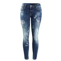Wholesale Cute Blue Jeans For Women - Women`s Brand New Cute Cartoon Printed Low Waist Stretch Skinny Pencil Pants Jeans For Women Denim Cropped Capris