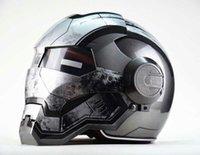 Wholesale Helmet Motorcycle Promotion - Hot Promotion 100% Original Masei 610 Ironman Motorcycle Helmet Skull Moto Helmet Vintage Retro Motorbike Helmets Capacetes Casco