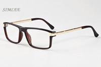 Wholesale Eyeglass Frames For Girls - 2018 luxury brand sunglasses half frame buffalo horn glasses designer sunglasses for men fashion eyeglasses with case clear lenses lunettes