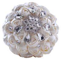 Wholesale Big Vine - Luxury crystal wedding bouquets 2016 New Design In Stocks Luxury Big Crystal Wedding Bouquets Artificial Wedding Bouquets
