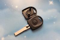 Wholesale Volkswagen Key Blanks - 10pcs lot VW Transponder Key Shell Case Car Key Blank for Volkswagen Passat B5 + Free Shipping