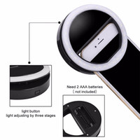 Selfie Ring Light Lumière universelle à LED Flash Smartphone Lampe de poche portative Mini Flash Spot pour iPhone6 ​​Plus / 6S / 6 Samsung