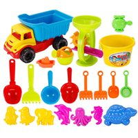 Wholesale Sand Beach Toy Set - 21 pcs lot Hot Selling Toddler Kids lots Outdoor Toys Tiny Beach Sand Toys Tools Bucket Set New