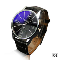 Wholesale China Wholesale Luxury Watches - Mens Waterproof Business Leather Stylish Classical Dial Fashion Hollow out Pointer Luxury Wristwatch China Watch black