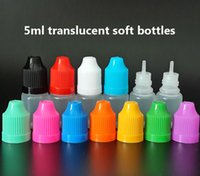 Wholesale Needle Tip For Bottle Dhl - Needle bottle 5ml LDPE Soft style Plastic Dropper Bottles with Childproof Caps and long thin tip for E liquid E juice via DHL