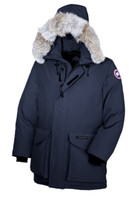 Wholesale Men S Canada Parka - 2017 canada New Arrival sale men's Down parka Ontario Black Navy Gray Jacket Winter Coat Parka Fur Sale With Free Shipping Outlet