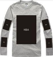 Wholesale Hba Mens Clothing - HBA Hot! mens t shirts fashion 2016 men clothing Hood by air hba x been trill kanye west long sleeve hip hop men t shirt