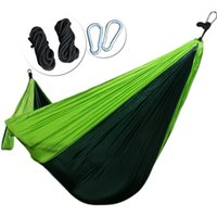 Wholesale Outdoor Rope Hammock - REAMIC Hiking camping portable small and exquisite package hammock outdoor beds straps and steel ring includes have 2 rope