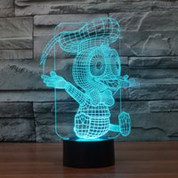 Wholesale Donald Duck Wedding - 2017 Donald duck Kenltx 3D Optical Night Light 9 LEDs Night Light DC 5V Factory Wholesale