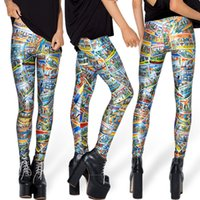 Donne Paesaggio Moda album Galaxy Legings Europa Diving pantaloni stampati Sky Spazio elastico Breathe Natale caldi Jeggings Slim Tights