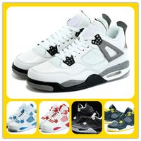 best best cheap basketball shoes  - Best Basketball Shoes retro 4 white cement Athletics trainers Sports Shoes Zoom Sneakers Discount Sale Training Boot Trainer cheap men Shoes