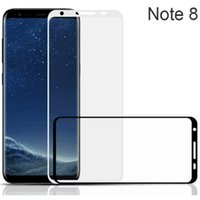 Wholesale Protect Cell Phone - Front tempered Glass Screen Protector For Samsung S6 S7 S8 edge plus Note 8 3D Curved Full Coverage cell phone screen protect
