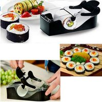 Wholesale Easy Sushi Maker Roller Equipment - Easy DIY Sushi Maker Roller equipment perfect roll mold set for making Roll-Sushi with color box kitchen accessories free shipping