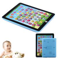 ingrosso laptop per bambini-Bambini bambini inglese pad apprendimento giocattolo educativo tablet computer macchina didattica strumenti bambini laptop pad giocattoli educativi per neonato