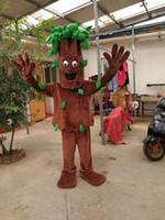 traje real mascote venda por atacado-Alta qualidade Real Pictures Deluxe Velho árvores traje da mascote da árvore Elefante traje da mascote Tamanho Adulto direto da fábrica frete grátis