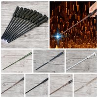 Harry Potter Cosplay levou varinha LED Iluminação Magical Magic Wand Brinquedos Presente Hermione Voldermort Magic Wands Halloween Cosplay varinha KKA2752