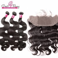 Wholesale Weave Knot - Unprocessed Peruvian Body Wave human virgin Hair Bundles with Ear To Ear Lace Frontal Closure Free Middle 3 Way Part Bleached Knots