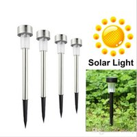 Wholesale New LED Solar Lights Sun Lawn Light Stainless Garden Outdoor Sun Light Corridor Lamp Outdoor Garden Lamp Solar Powered Colored Solar Lamps