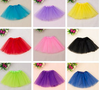 Wholesale Mini Tulle Skirt - cheap baby girl dance tutu skirt children tulle tutus pettiskirt princess party costumes Free shipping 10pcs lot free shipping
