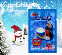 Wholesale Gifts For Children S Party - Hot Magic Prop DIY Instant Artificial Snow Powder Simulation Fake Snow for Party Christmas Decoration for children baby gift