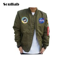 Wholesale Spring Military Jacket Men - New arrival hot sales men military bomber jacket brand style clothing army military ma1 spring clothes coat casual hip hop swag