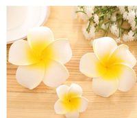 Wholesale Whosale Wedding Accessories - Whosale Plumeria rubra Women Beach Party Hair pins Cheap Customed Flower Wedding Barretts Accessories Hair Clips