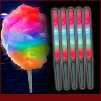 Wholesale 28 Led Light Bar - 2017 HOT 28*1.75CM New Kid Favor Colorful LED flashing cotton candy stick,light up novelty glow party cheering stick for concert bar ..