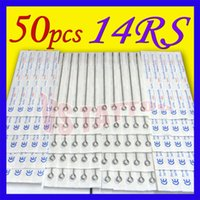 Wholesale Disposable Round Shader Tattoo Tips - Solong Tattoo Lots 50Pcs Disposable Sterile Tattoo Needles For Tattoo Machine kit Grip tips Assorted Round Shader TN-50RS