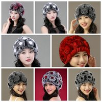 Barato Chapéu De Fedora De Inverno Mulheres-Mulheres CC Trendy Hats Inverno Knitted Fur Poms Beanie Label Fedora Cabo de luxo Slouchy Skull Caps Moda Lazer Beanie Outdoor Hats YYA722