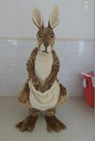 Wholesale kangaroo adult costume - 2016 NEW EVA head Adult Australian kangaroo mascot costume kangaroo costume for sale just like the picture