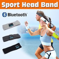 Wholesale Head Phone Cap - Bluetooth Music Wrap Hat Headband Stereo Wireless Headset Earphone Handfree Sports Running Yoga Stretch Head Cap Mens Womens For Smart Phone