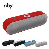 18 hd großhandel-Pille Lautsprecher NBY-18 Mini Bluetooth Lautsprecher Tragbare drahtlose Lautsprecher Sound System 3D HD Stereo Surround Boombox Musik FM TF AUX USB