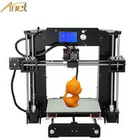 Wholesale 3d Printer Lcd - Hot Sale 3d-Printer diy Anet A6 Easy assembly Precision Reprap Prusa i3 3D Printer Kit DIY With Filament 16GB LCD Screen Free