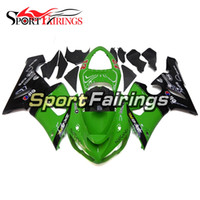 Wholesale Kawasaki 636 Frame - Green Black Covers Full Fairings For Kawasaki ZX6R ZX-6R 636 Year 2005 2006 05 06 Sportbike ABS Motorcycle Fairing Kit Body Frames