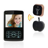 Wholesale Door Eye Camera Wireless - 2.4 GHz Wireless Video Door Phone 3.5 inch Touch Button Doorbell Intercom Home Security Electronic Eye F1679A