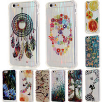 Wholesale Dream Rhinestone - For iPhone 6 6S Plus 6Plus 5 5S SE Brushed Skull Dream Catcher with Dust Plug Soft TPU Phone Case Cover for iPhone6
